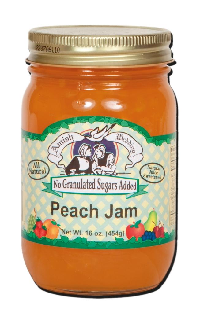 Peach Jam (No Granulated Sugar)